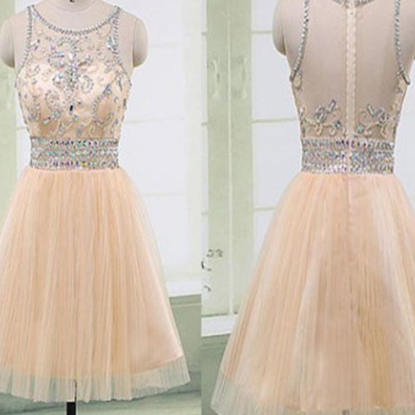 Blush pink Gorgeous beaded elegant fashion cute homecoming prom gown dresses